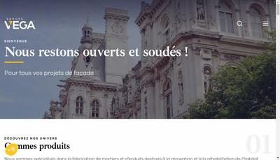 Site internet de Groupe Vega