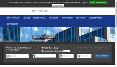 Site internet de Gsa Immobilier