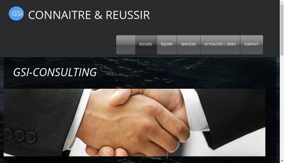 Site internet de GSI Consulting Company
