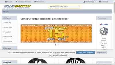 Site internet de Gta Sport