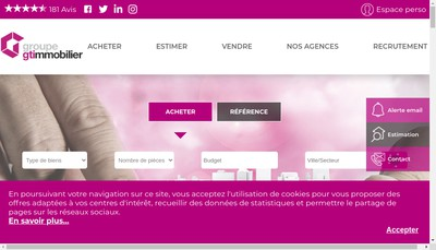 Site internet de Gti Location