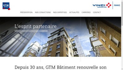 Site internet de Gtm Batiment