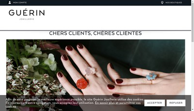 Site internet de Bijouterie Guerin