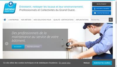 Site internet de Guesneau Services