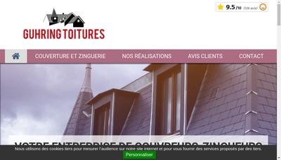 Site internet de Guhring Toitures