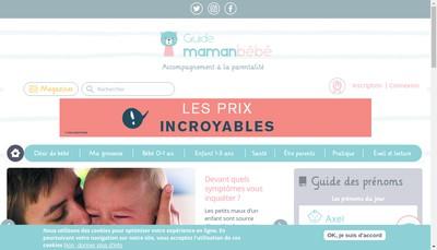 Site internet de Maman Bebe