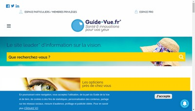 Site internet de Le Guide de la Vue