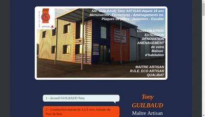 Site internet de Guilbaud Tony EURL