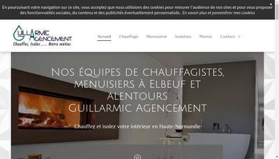 Site internet de Guillarmic Agencement