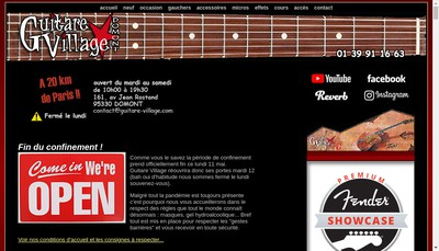 Site internet de Guitare Village