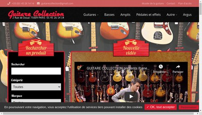 Site internet de Guitare Collection