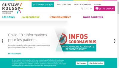 Site internet de Institut Gustave Roussy