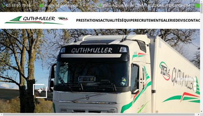 Site internet de Transports Marcel Guthmuller