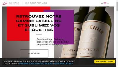 Site internet de Guyenne Papier SAS