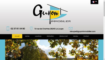 Site internet de Guyon Immobilier