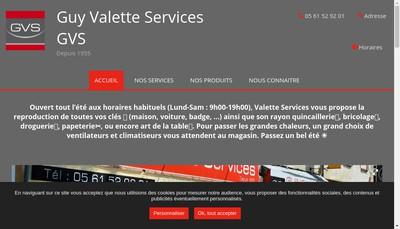 Site internet de Guy Valette Services