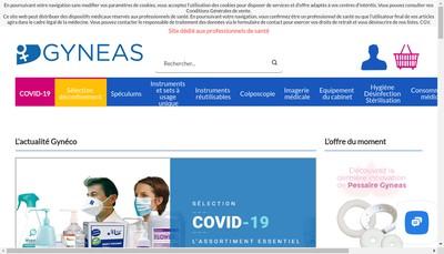 Site internet de Laboratoires Gyneas