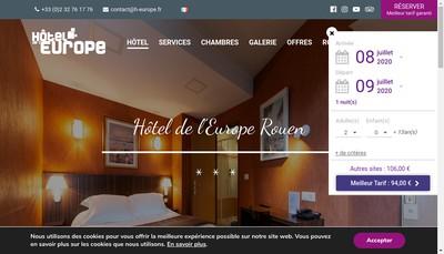 Site internet de Hotel de l'Europe