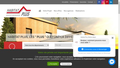 Site internet de Habitat Plus