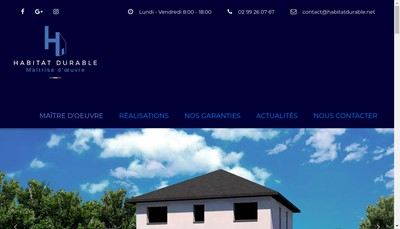 Site internet de Habitat Durable