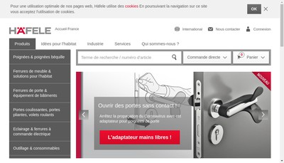 Site internet de Hafele France