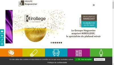 Site internet de SARL Haguenier