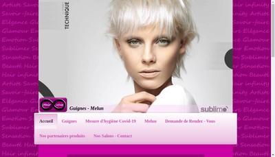 Site internet de Hair Infinity