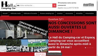 Site internet de Le Hall du Camping-Car