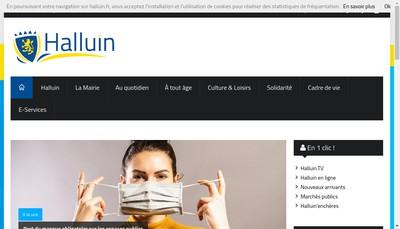 Site internet de Halluin Restauration