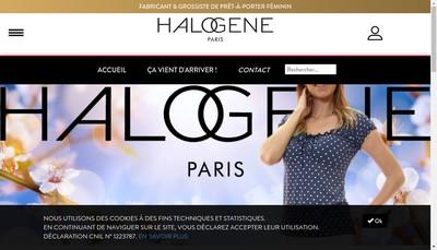 Site internet de Halogene