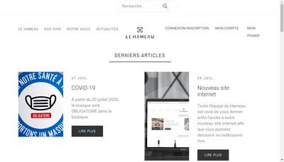 Site internet de Hameau des Vignerons de Carces