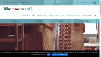 Site internet de Hammam Cafe
