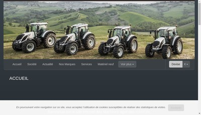 Site internet de Machines Agricoles Hamon