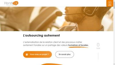 Site internet de Handicall Bordeaux