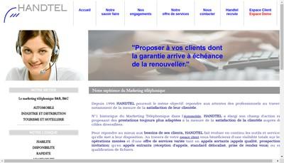 Site internet de Handtel