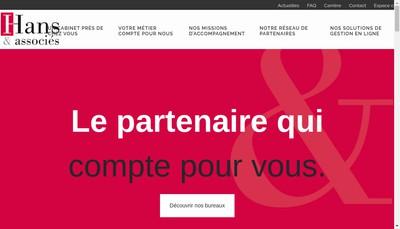 Site internet de Hans & Associes - Alsec