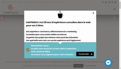 Site internet de Happiness
