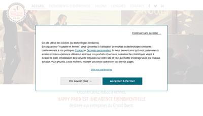 Site internet de Happy Prod