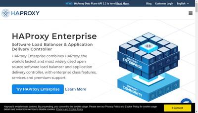 Site internet de Haproxy Technologies