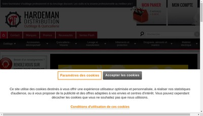 Site internet de Hardeman Distribution