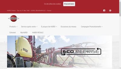 Site internet de Groupe Hardi France