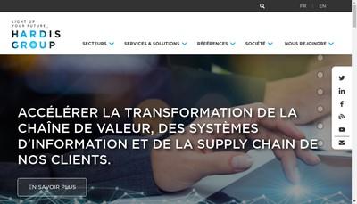 Site internet de Hardis Groupe