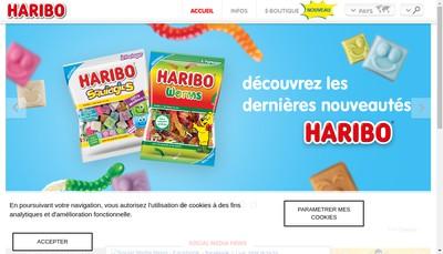 Site internet de Haribo Ricqles Zan