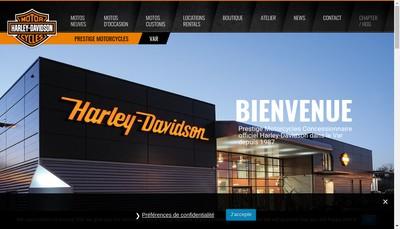 Site internet de Prest Motocycle