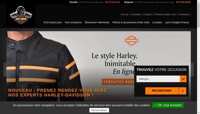 Site internet de Harley-Davidson Grand-Lyon