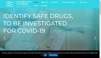 Site internet de Harmonic Pharma