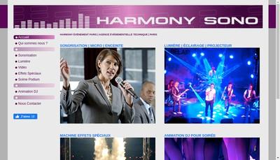 Site internet de Harmony