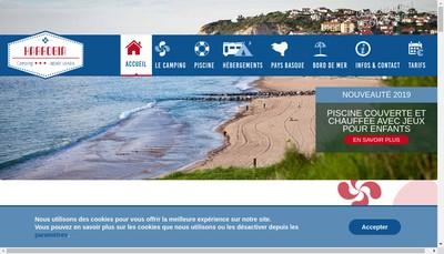 Site internet de Terrasse d'Harrobia