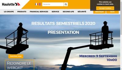 Site internet de Haulotte Group
