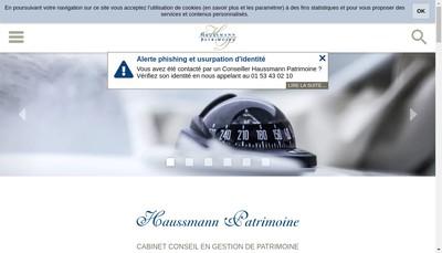 Site internet de Haussmann Patrimoine Invest
